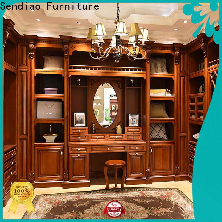 Sendiao Furniture wood wooden wardrobe Suppliers three-star hotel