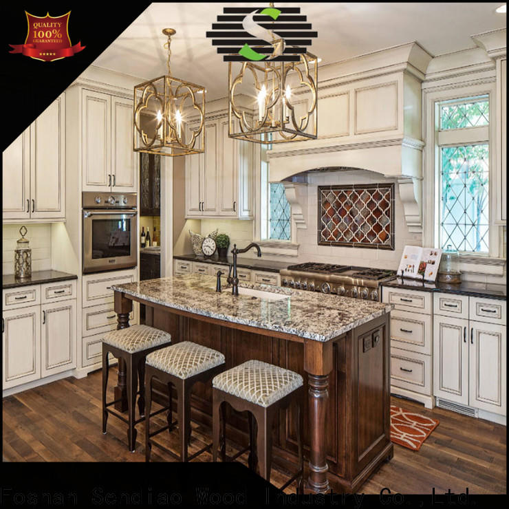 Sendiao Furniture New solid wood kitchen cupboards Suppliers exhibition hall