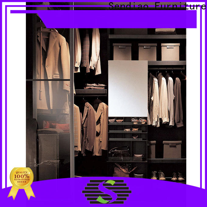 Sendiao Furniture solid wooden clothes wardrobe Suppliers a living room