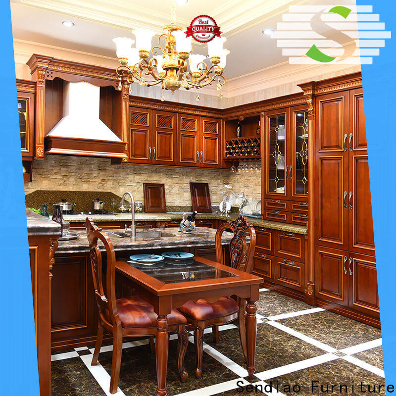 New real wood kitchen cabinets sdk07 company bedroom