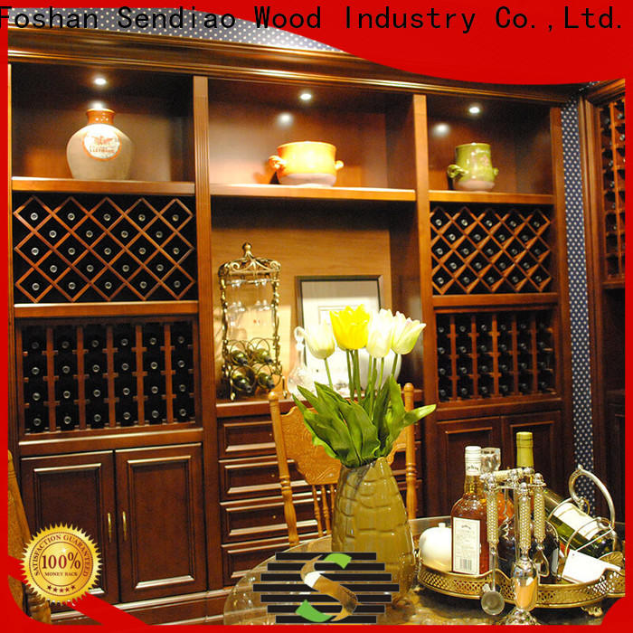 Sendiao Furniture Custom wood wine rack cabinet for business bedroom