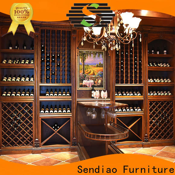 Sendiao Furniture oak bespoke wine cabinet company exhibition hall