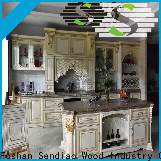 New real wood kitchen cabinets modern Suppliers a living room