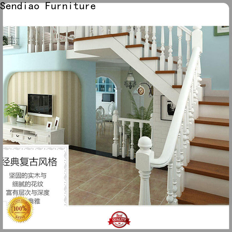Sendiao Furniture New wooden spiral staircase for business three-star hotel