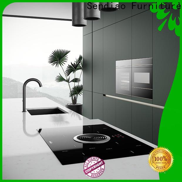 Sendiao Furniture modern real wood kitchen cabinets Supply fivestar hotel