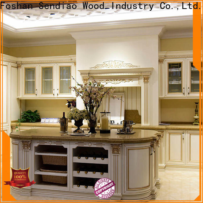 Sendiao Furniture sdk06 hardwood kitchen cabinets manufacturers exhibition hall