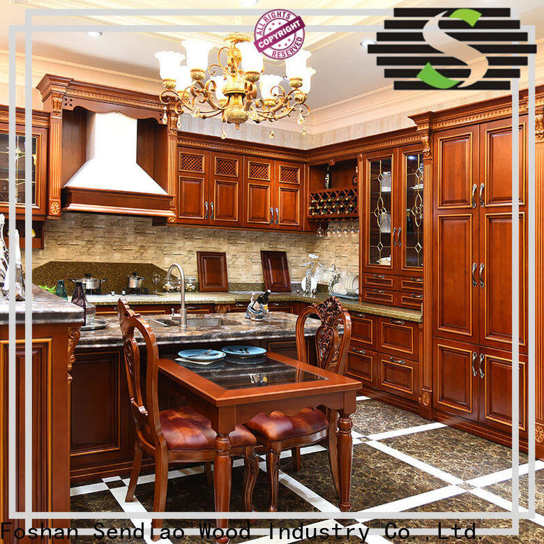 Sendiao Furniture modular real wood kitchen cabinets Supply exhibition hall