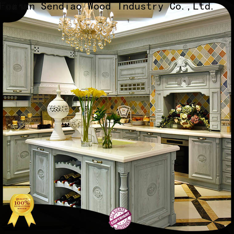 Sendiao Furniture Wholesale custom wood kitchen cabinets for business four-star hotel