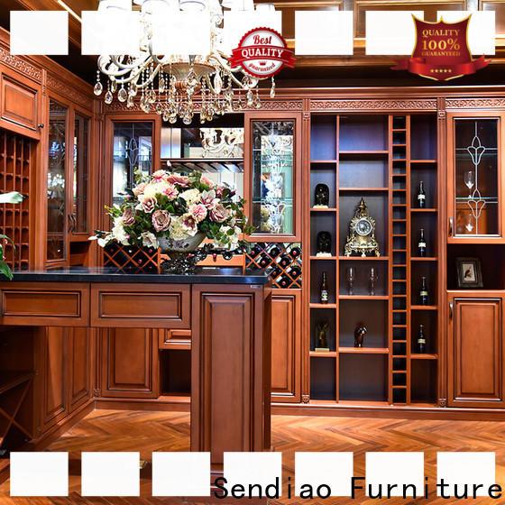 Sendiao Furniture wood bespoke wine cabinet for business fivestar hotel