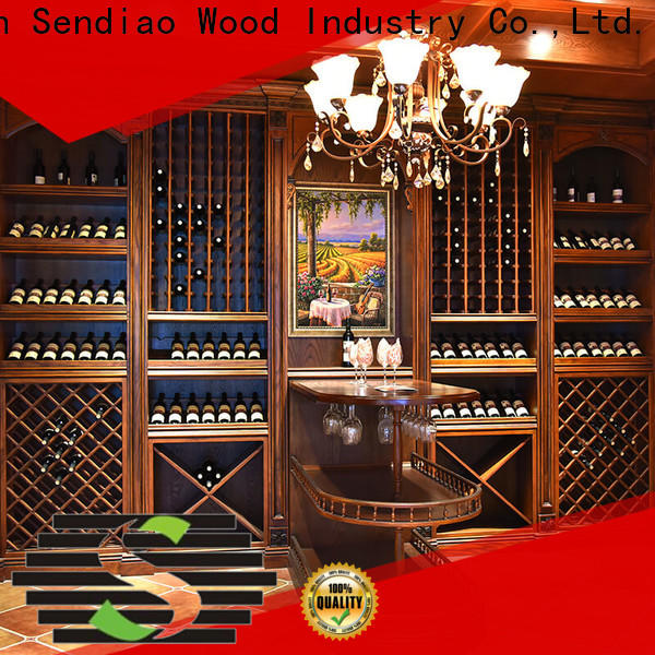 Sendiao Furniture red solid wood wine cabinet company bedroom
