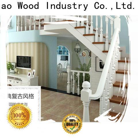 Custom wooden staircase accessories Supply fivestar hotel