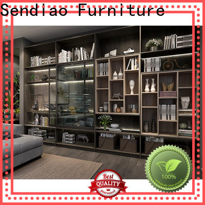 High-quality bespoke bookshelves threepiece factory exhibition hall
