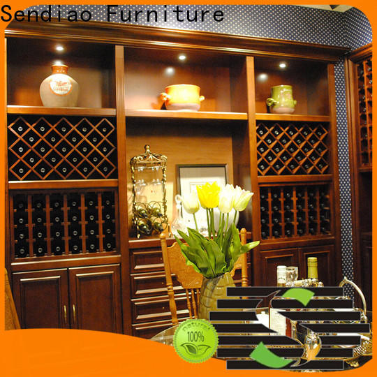 High-quality solid wood wine cabinet sdwi02 manufacturers study