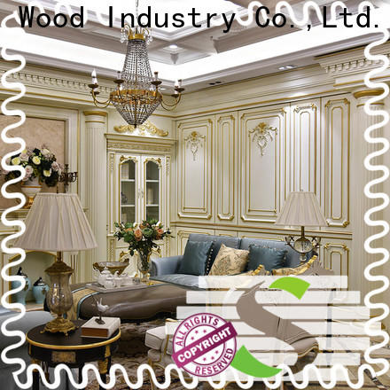 Latest wood panelling for walls interior furniture Supply study