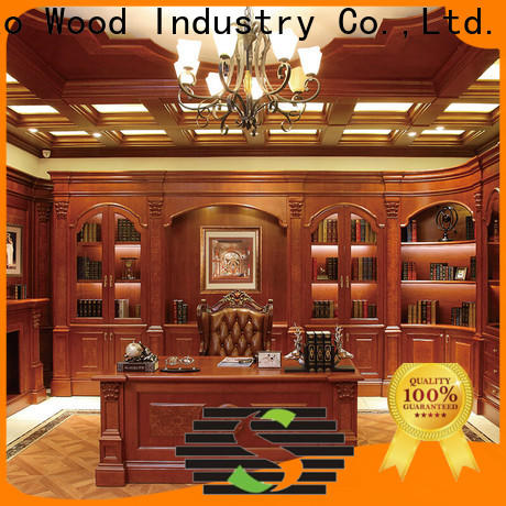 Sendiao Furniture threepiece solid wood bookcases Supply fivestar hotel