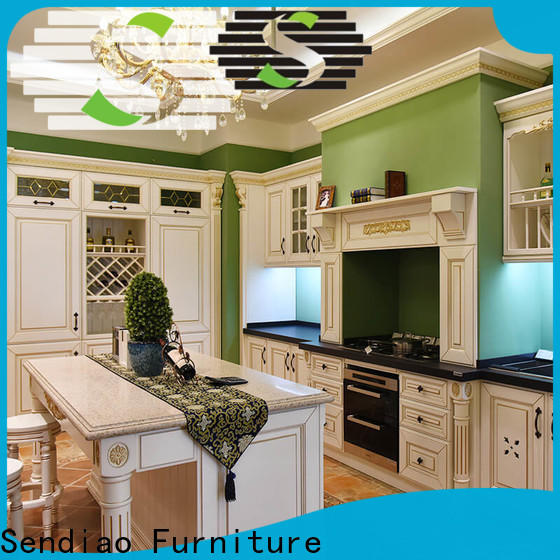 Sendiao Furniture Latest custom kitchen cabinets Supply three-star hotel