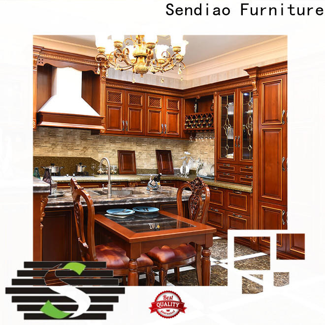 Sendiao Furniture New solid wood kitchen cupboards Suppliers study