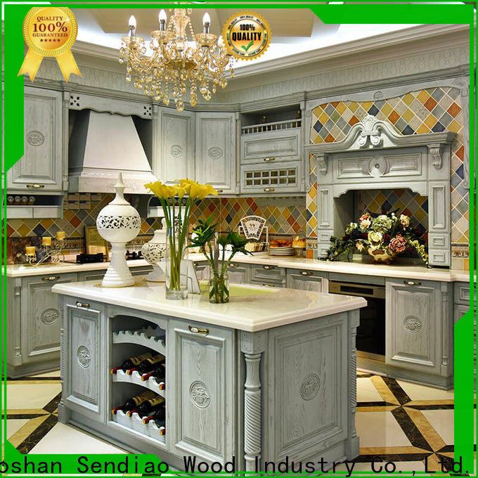 Custom bespoke kitchen cabinet sdk06 factory three-star hotel