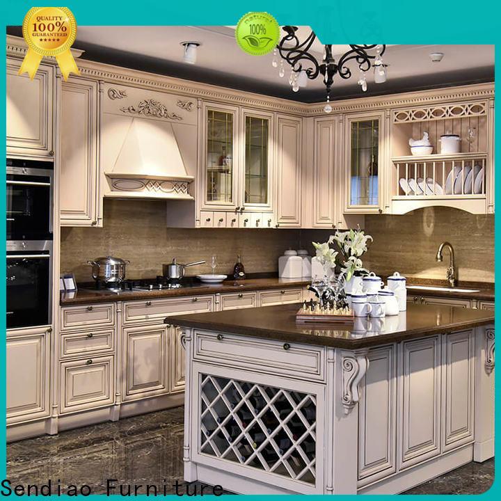 Sendiao Furniture High-quality hardwood kitchen cabinets factory three-star hotel