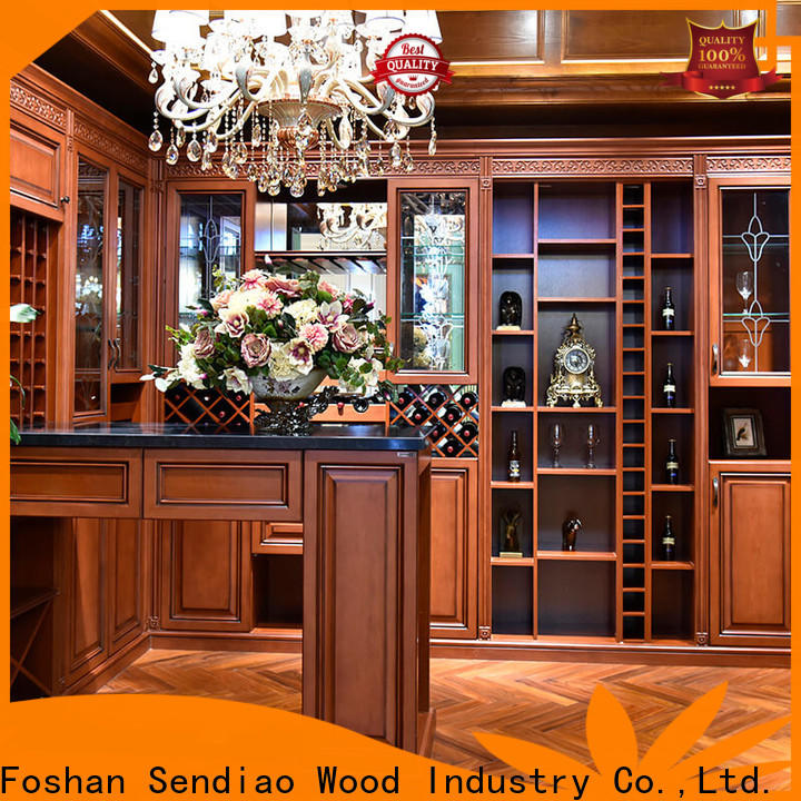 High-quality solid wood wine cabinet solid Suppliers four-star hotel
