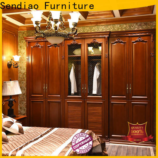 Sendiao Furniture wardrobe wooden wardrobe manufacturers chateau