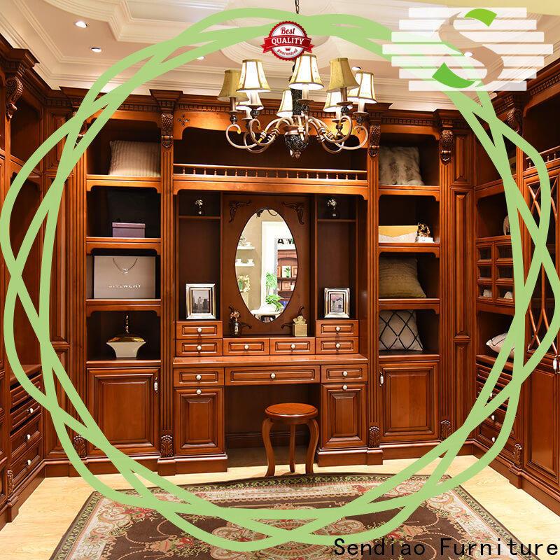 Sendiao Furniture cabinet wood wardrobe cabinet Supply four-star hotel