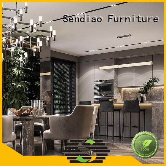 Sendiao Furniture cabinets solid wood kitchen cabinets factory exhibition hall