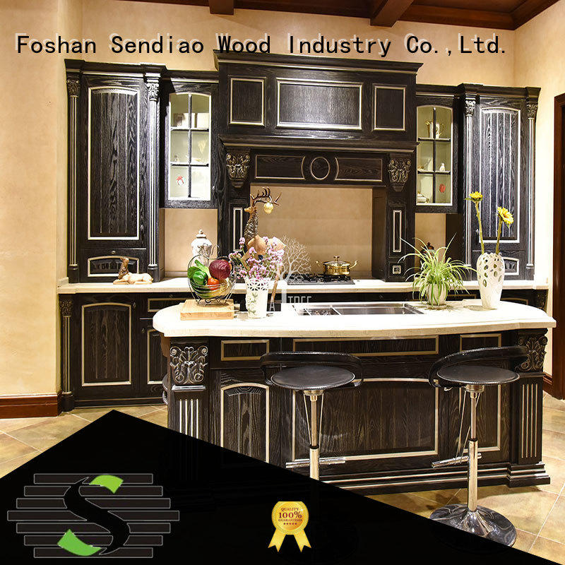 real wood kitchen cabinets furniture Study Sendiao Furniture