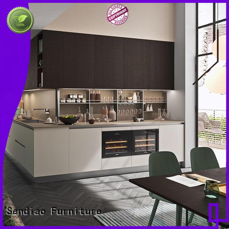 Sendiao Furniture classical hardwood kitchen cabinets for business fivestar hotel
