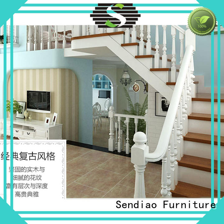 Sendiao Furniture stairs wooden spiral staircase manufacturers exhibition hall