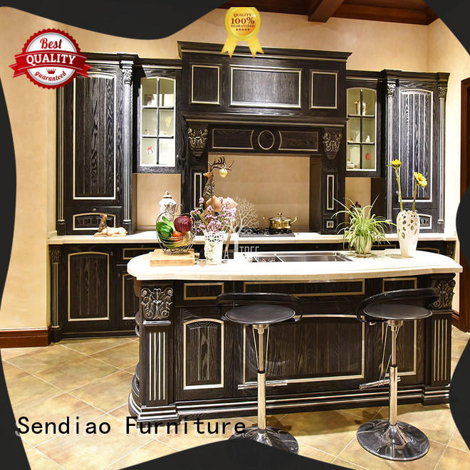 Sendiao Furniture The latest generation real wood kitchen cabinets Simplicity Bedroom