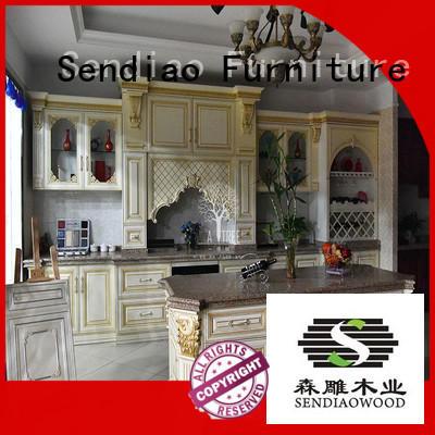 Sendiao Furniture classical custom kitchen cabinet manufacturers Promotion Chateau