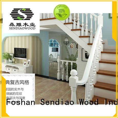 sds02 wooden staircase design elegance Fivestar Hotel Sendiao Furniture