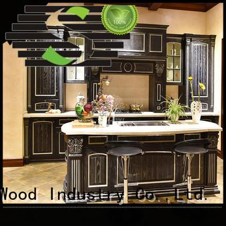 modular kitchen cabinets solid Four Star Hotel Sendiao Furniture