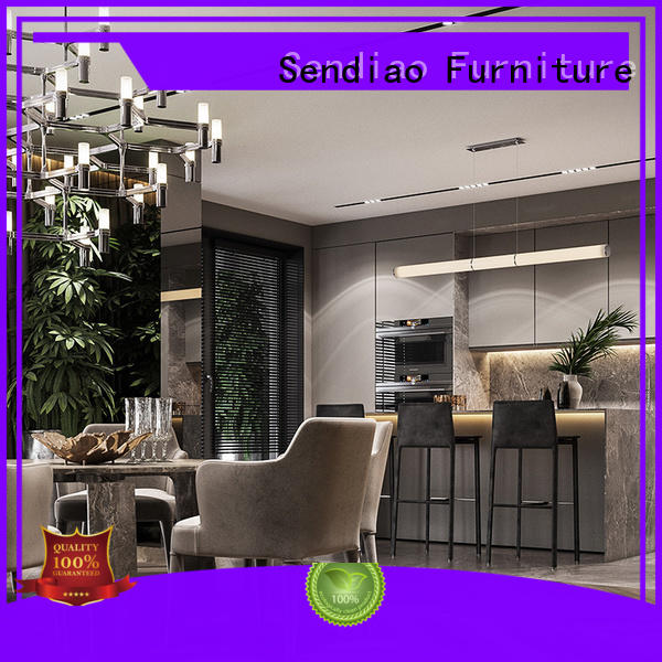 Sendiao Furniture The latest generation wooden kitchen cupboards classical Four Star Hotel
