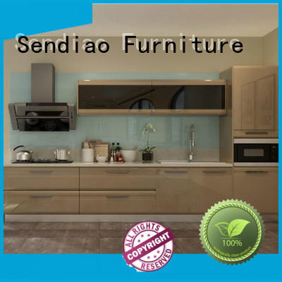 Sendiao Furniture High-quality wooden kitchen cupboards Supply four-star hotel
