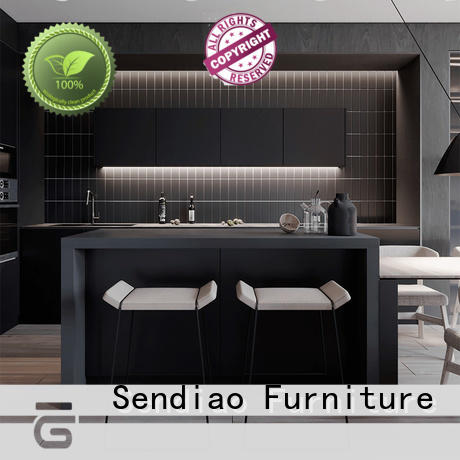 Sendiao Furniture High-quality real wood kitchen cabinets manufacturers three-star hotel