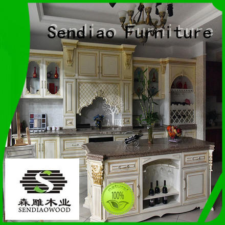 solid solid wood kitchen cupboards freedom Fivestar Hotel Sendiao Furniture