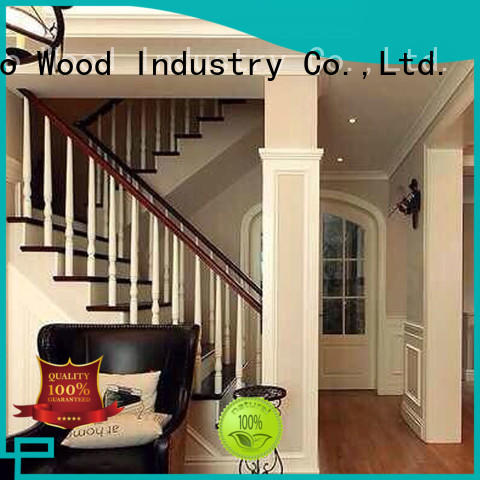 Custom wooden staircases solid for business chateau