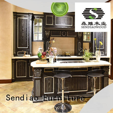 Sendiao Furniture low price rustic kitchen cabinets modular Exhibition hall