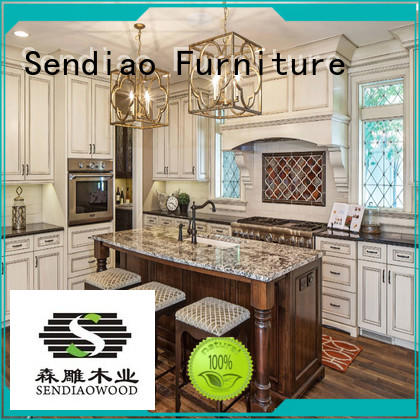 sdk03 solid wood kitchen cabinets The latest generation Fivestar Hotel
