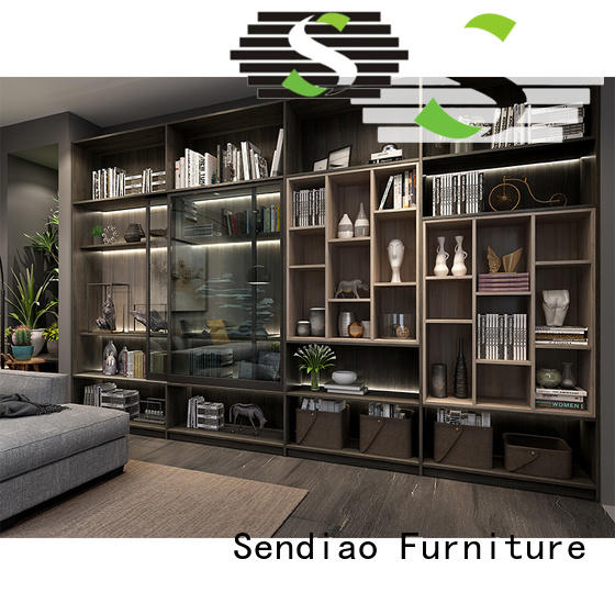 Sendiao Furniture low price bespoke bookshelves factory a living room