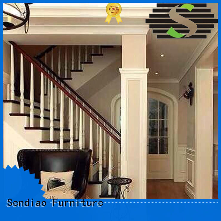 white and wood stairs stair cabinet Sendiao Furniture Brand company