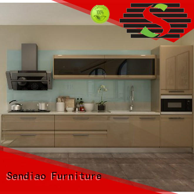 Sendiao Furniture elegance solid wood kitchen cupboards for business four-star hotel