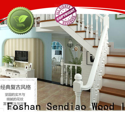 Sendiao Furniture staircase wooden staircase manufacturers four-star hotel