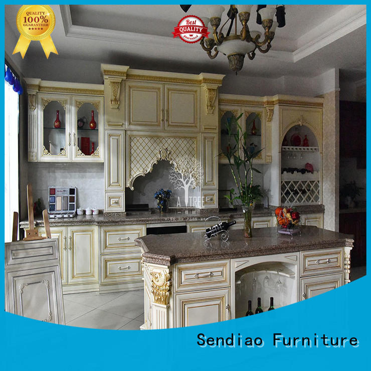 Sendiao Furniture American style wood kitchen cabinets suppliers three-star hotel