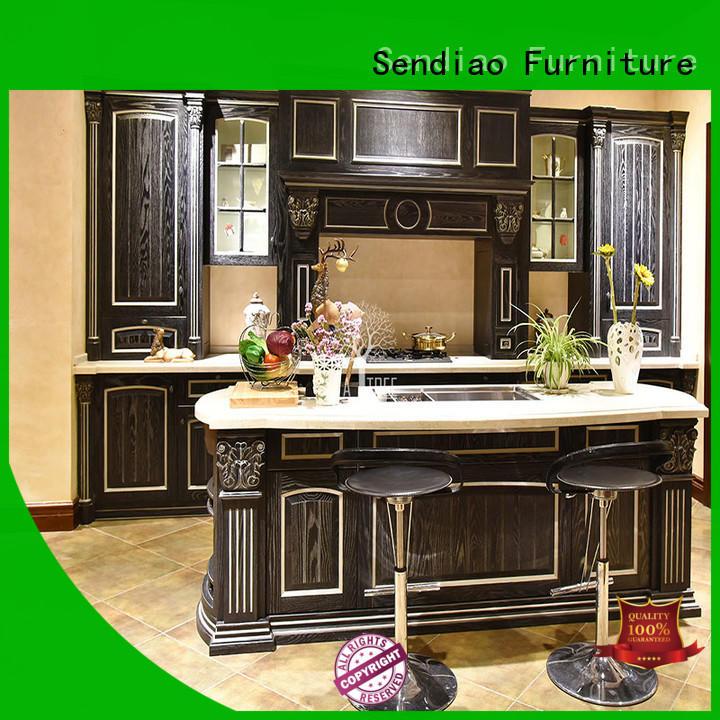 sdk07 contemporary kitchen cabinets elegance Exhibition hall Sendiao Furniture