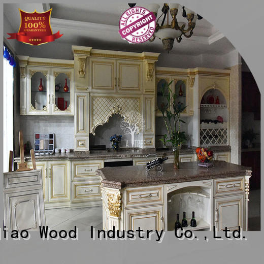 oak wood kitchen cabinets sdk08 Four Star Hotel Sendiao Furniture