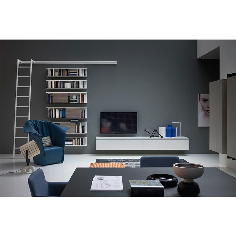 combination bespoke bookcases Simplicity A living room Sendiao Furniture-3