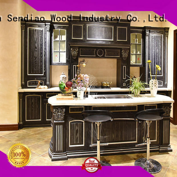 Sendiao Furniture Promotion wooden kitchen cupboards supply four-star hotel